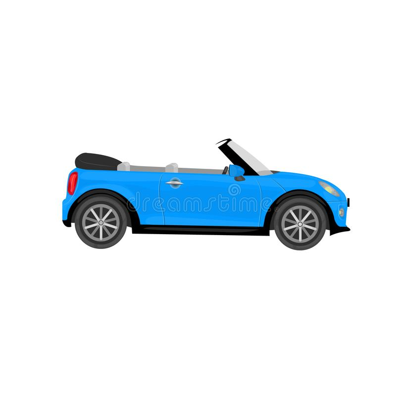 Cabriolet car on the isolated background. stock image