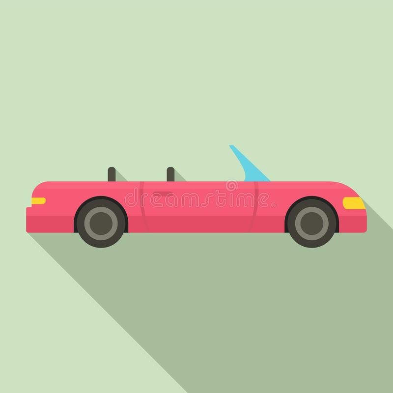 Cabriolet icon, flat style. Cabriolet icon. Flat illustration of cabriolet vector icon for web design vector illustration
