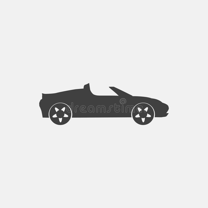 Cabriolet pictogram vector illustratie