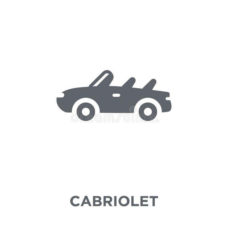 Cabriolet pictogram van Vervoersinzameling vector illustratie