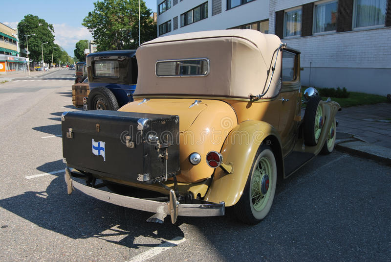 Cabriolet. Uusikaupunki, Finland - August, 9, 2014: Well restored Nash club car stock image