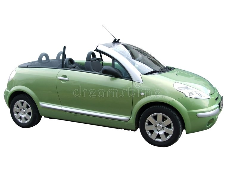Cabriolet verde fotografia stock libera da diritti