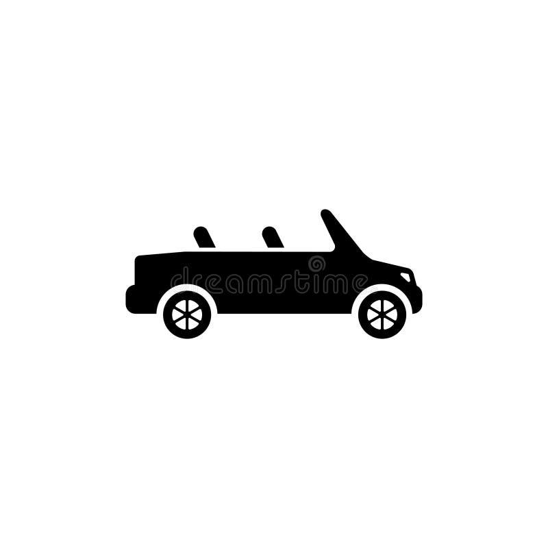 Cabriolet Vlak Vectorpictogram stock illustratie