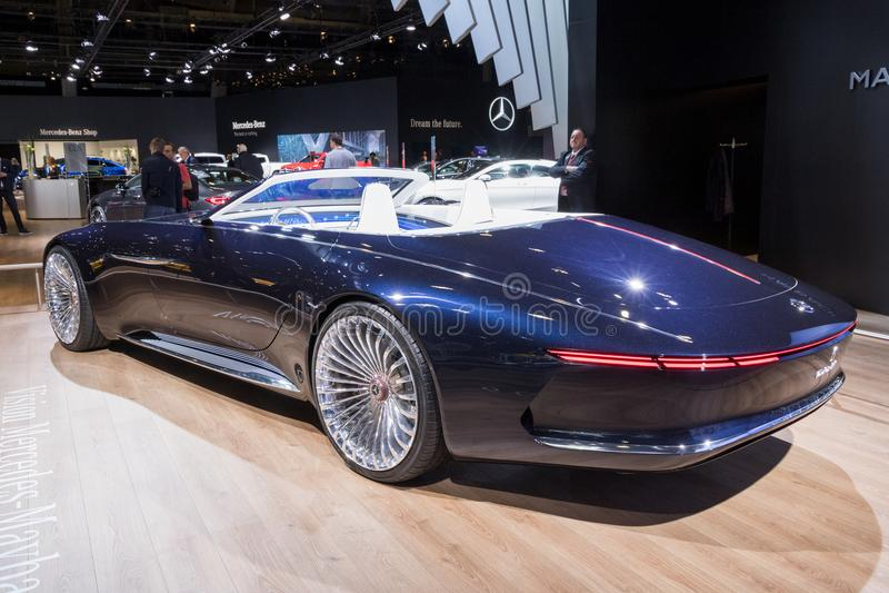 Cabrioletauto 2018 Visions-Mercedess-Maybach 6 lizenzfreie stockfotografie