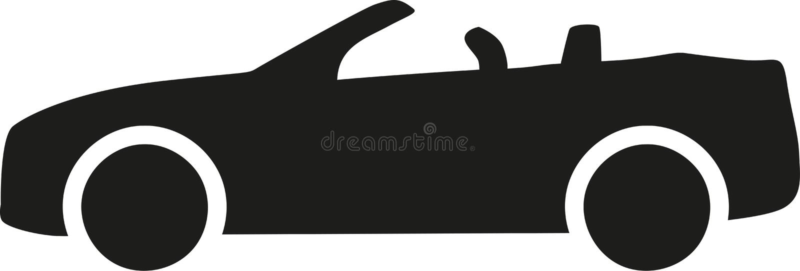 Cabrioletautoikone stock abbildung
