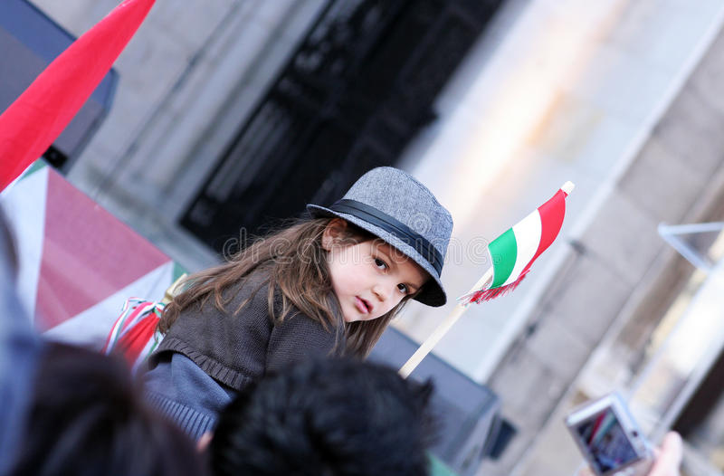 Cabrito con el indicador coloreado húngaro foto de archivo libre de regalías