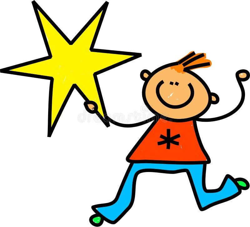 Cabrito de la estrella stock de ilustración
