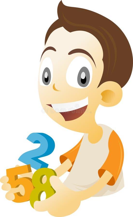 Cabrito de la matemáticas stock de ilustración