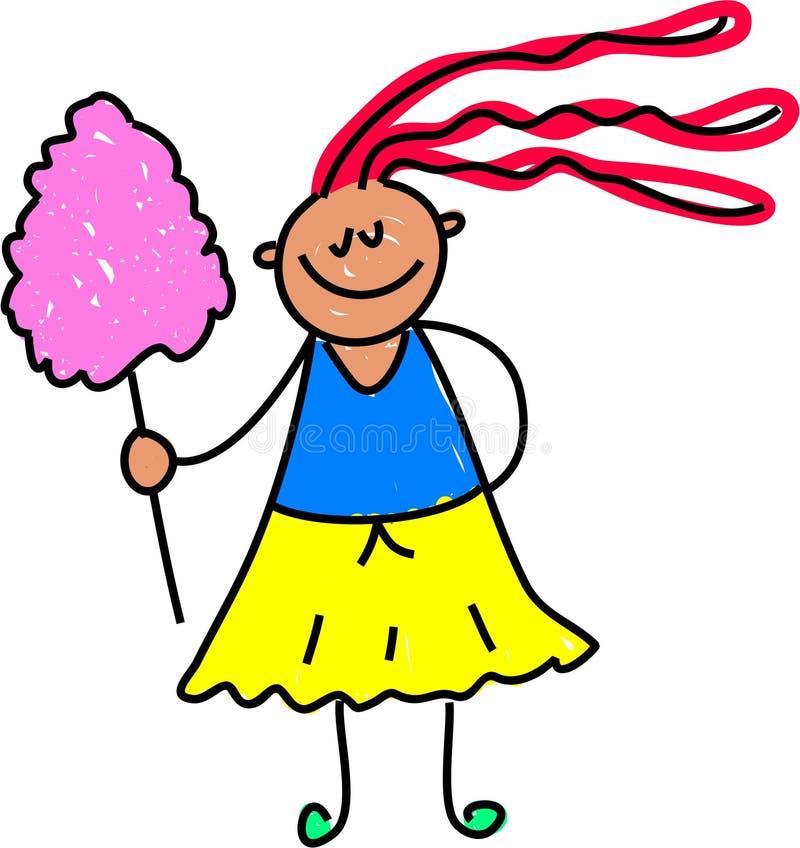 Cabrito de la seda del caramelo stock de ilustración