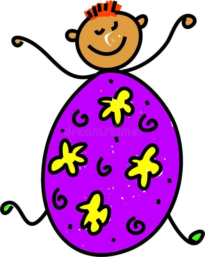 Cabrito del huevo de Pascua ilustración del vector