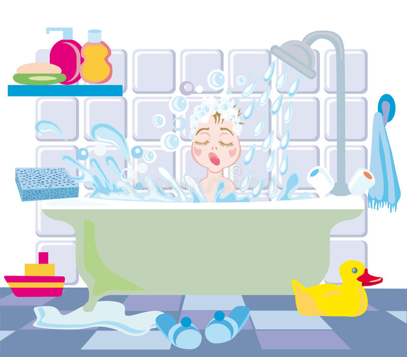 Cabrito en baño libre illustration