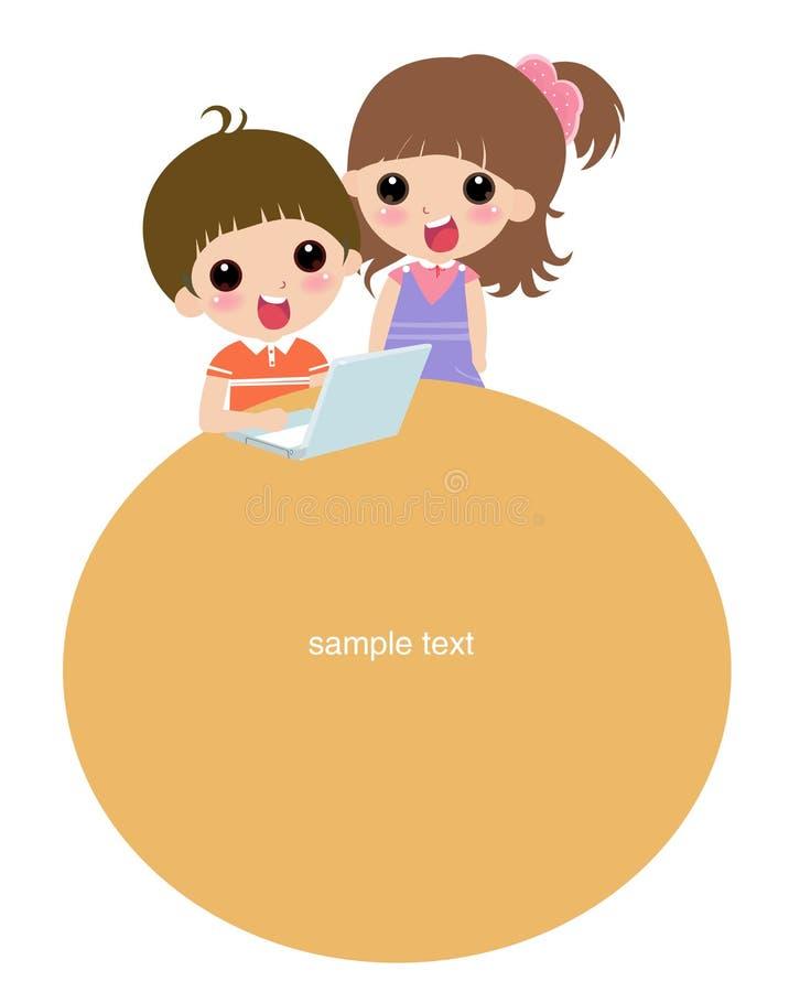 Download Cabrito en el ordenador ilustración del vector. Ilustración de niños - 7283849