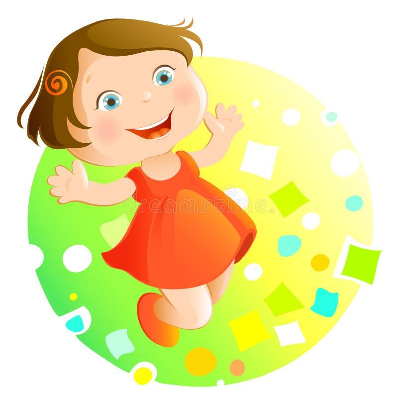 Cabrito feliz (niña) stock de ilustración