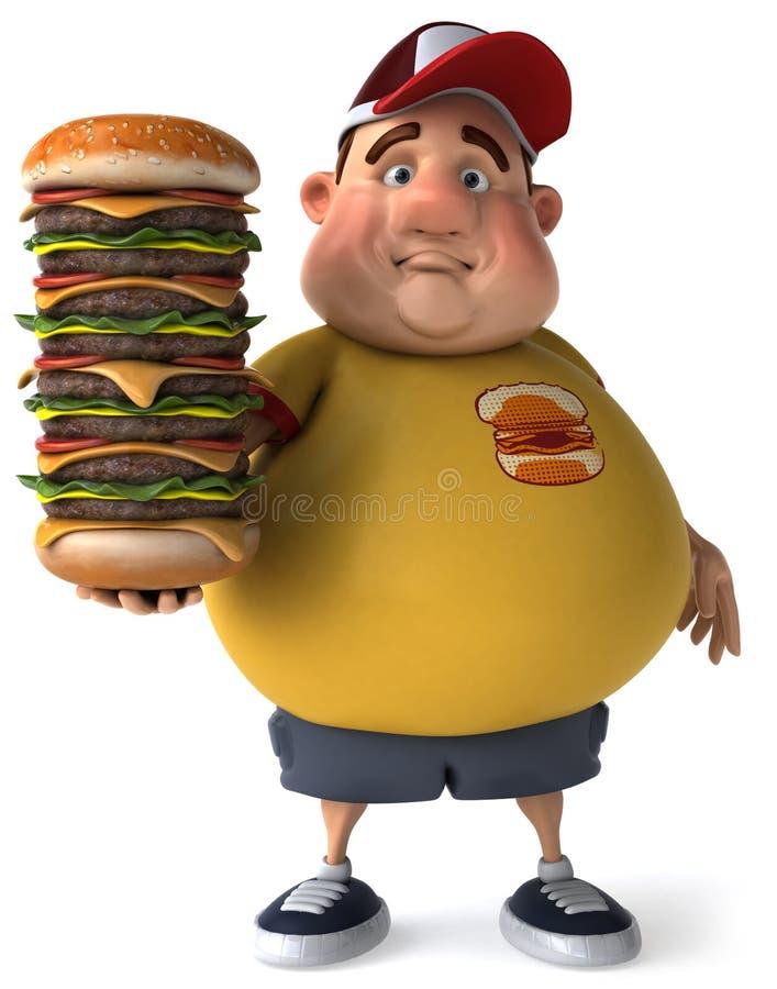 Cabrito gordo ilustración del vector