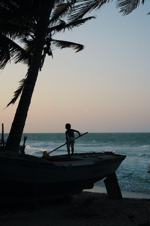 Cabrito que juega en la playa imagen de archivo libre de regalías