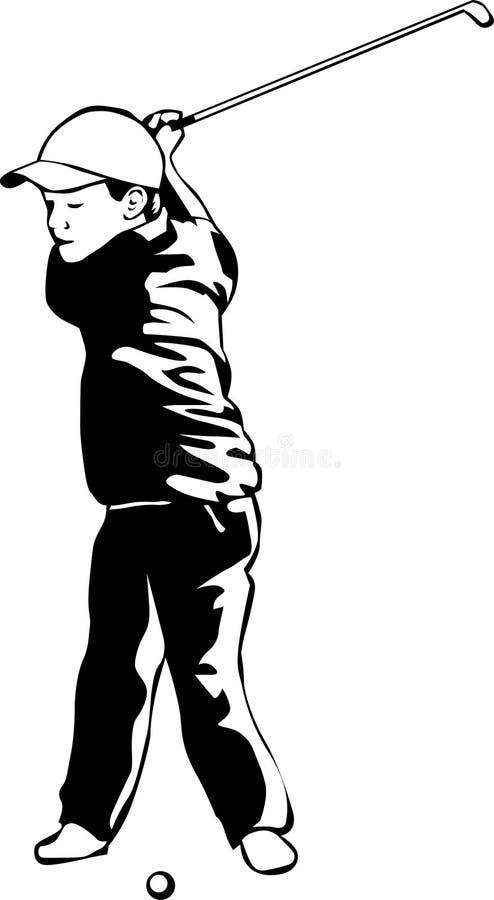 Cabrito que juega a golf stock de ilustración