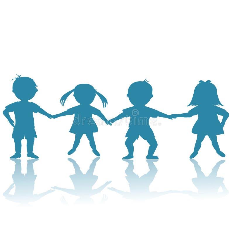Cabritos azules felices stock de ilustración
