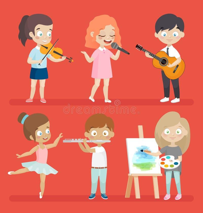 Cabritos creativos stock de ilustración