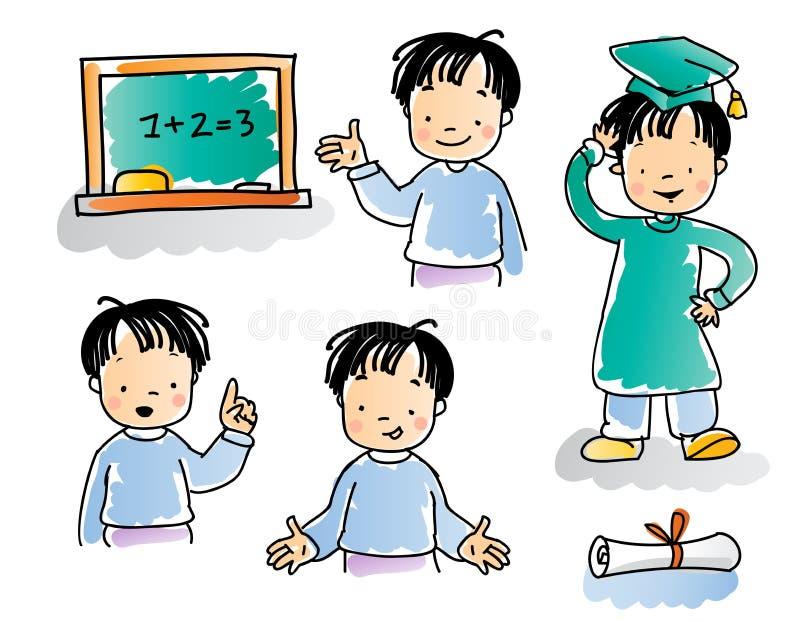 Cabritos de la escuela ilustración del vector