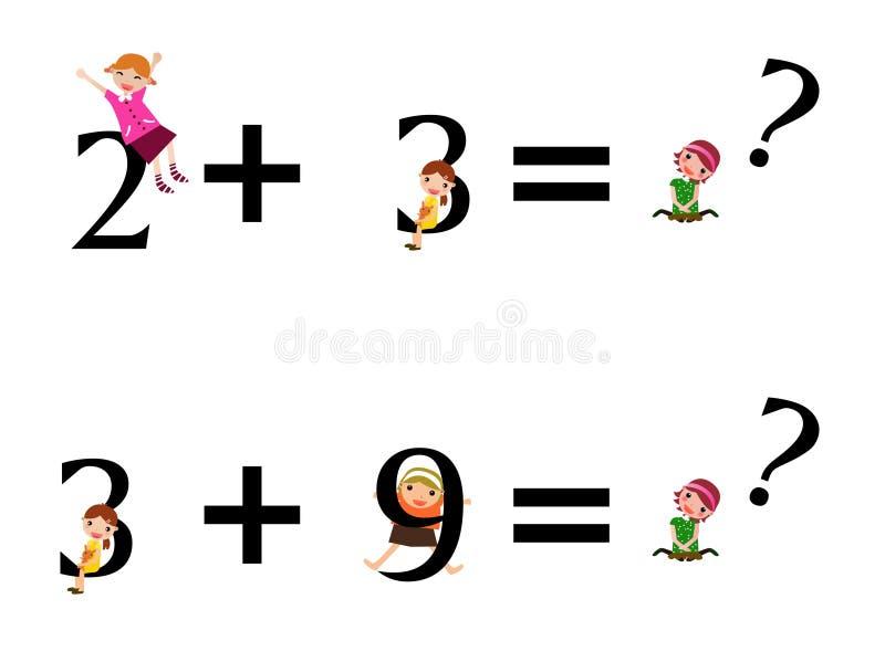 Cabritos de la matemáticas stock de ilustración