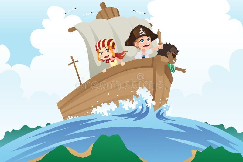Cabritos de los piratas stock de ilustración