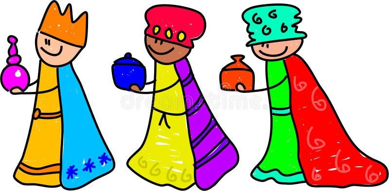 Cabritos de unos de los reyes magos ilustración del vector