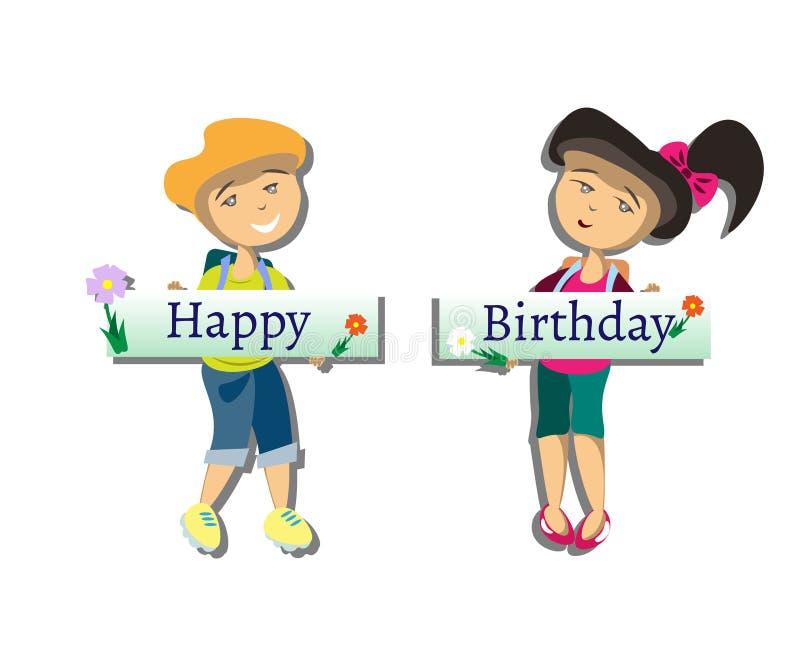 Cabritos del feliz cumpleaños libre illustration