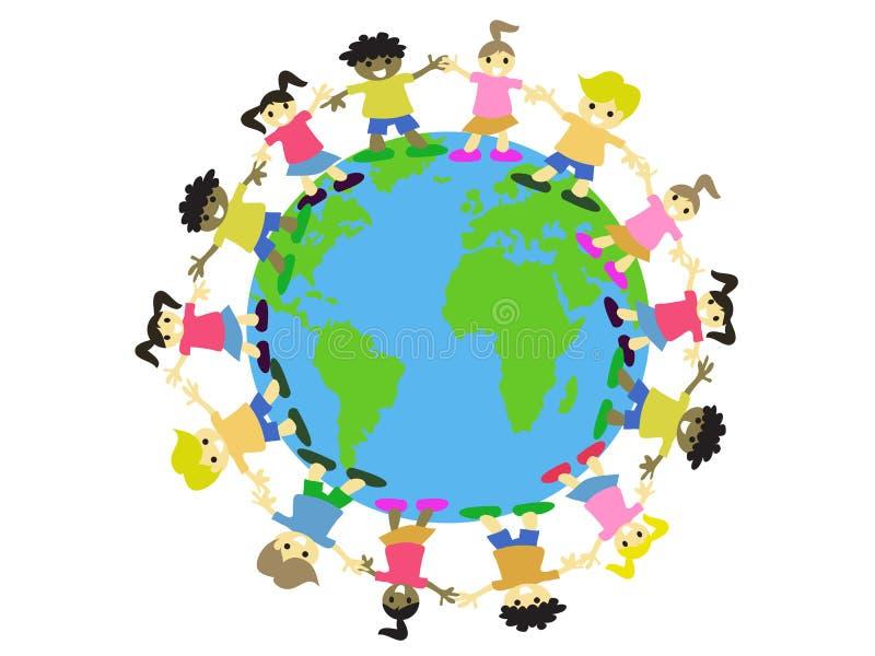 Cabritos del mundo stock de ilustración