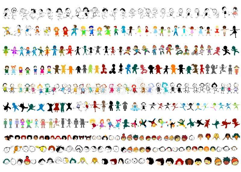 Cabritos felices ilustración del vector