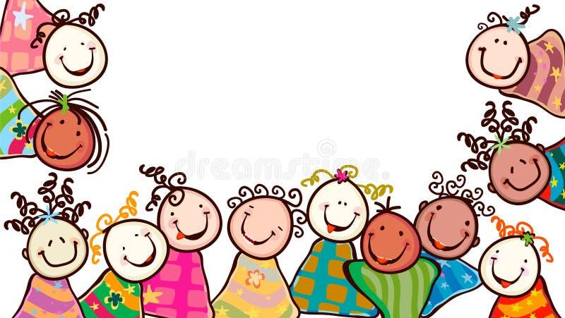 Cabritos felices stock de ilustración