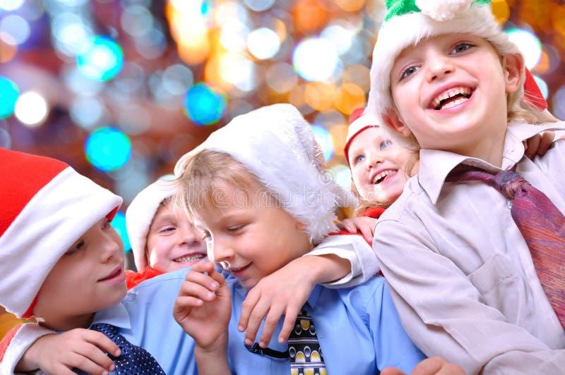 Cabritos felices de la Navidad foto de archivo libre de regalías