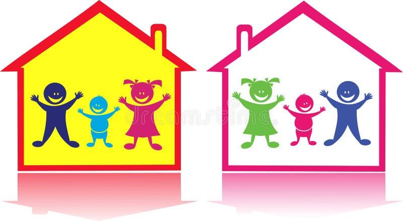 Cabritos felices en el hogar. libre illustration