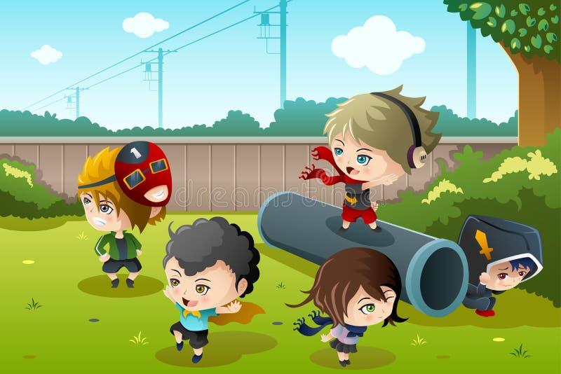 Download Cabritos Que Juegan En El Parque Ilustración del Vector - Ilustración de hembra, feliz: 42444871