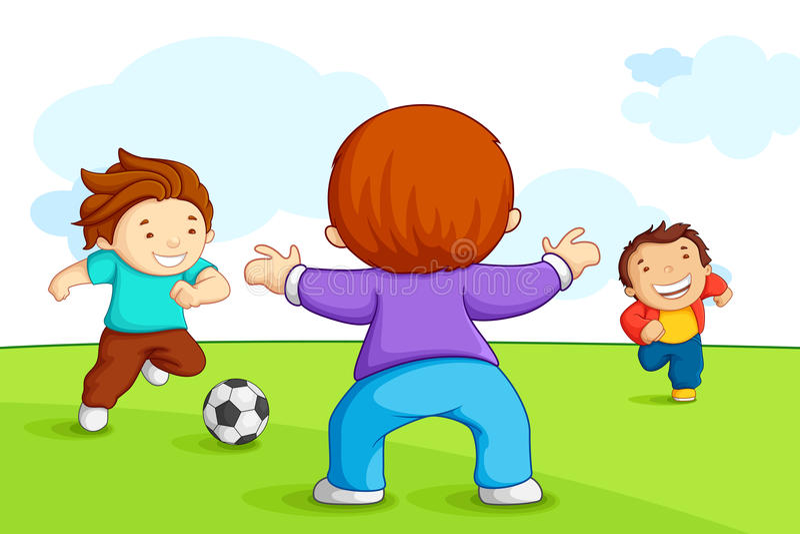 Cabritos que juegan a fútbol libre illustration