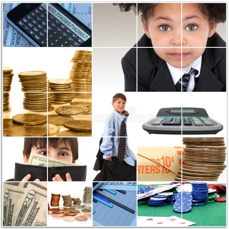 Cabritos y collage del dinero fotografía de archivo