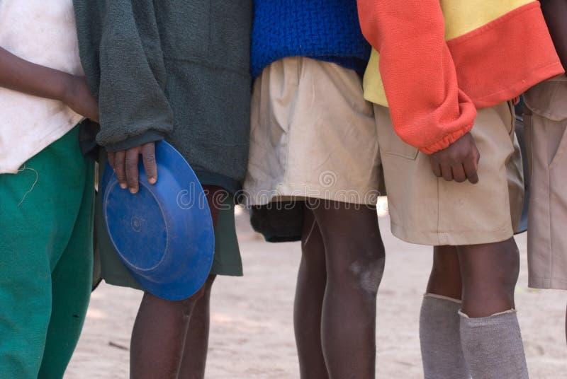 Cabritos zimbabuenses de la escuela imagen de archivo