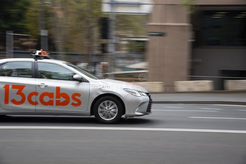 13cabs est un fournisseur de services de réseau de taxis NSP opérant à Sydney. photos stock