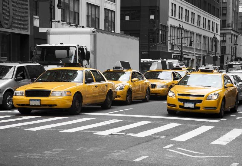 cabs New York arkivbilder