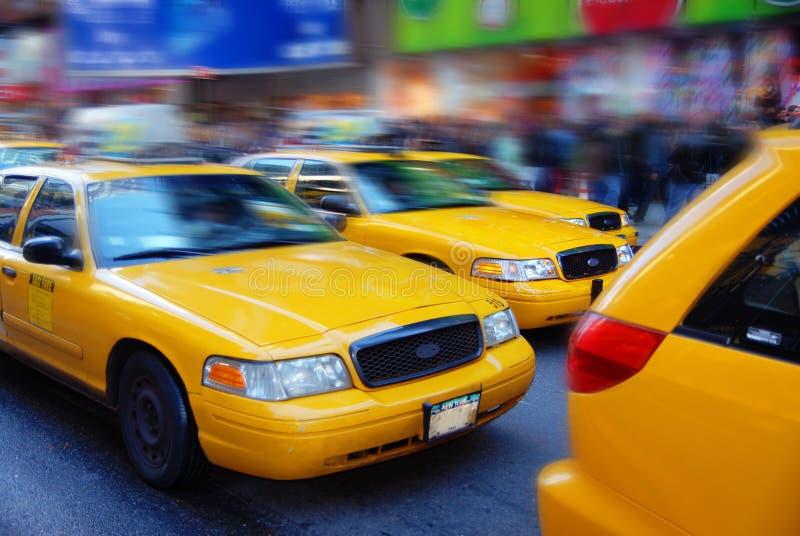 cabsstad New York royaltyfria bilder