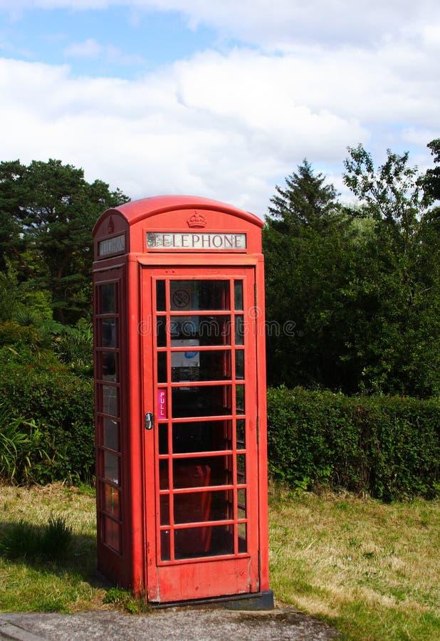 cabtelefon offentliga röda scotland arkivfoto