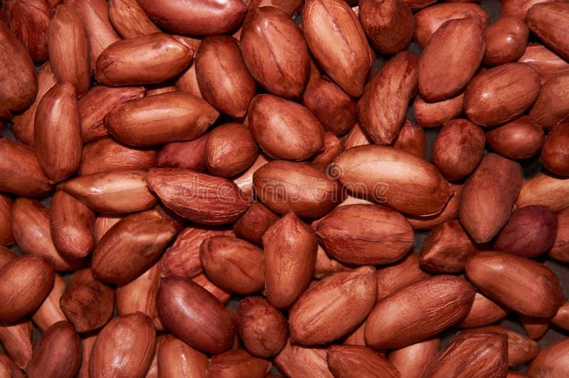 Cacahuete rojo del grano en el fondo entero Fondo del alimento fotografía de archivo libre de regalías