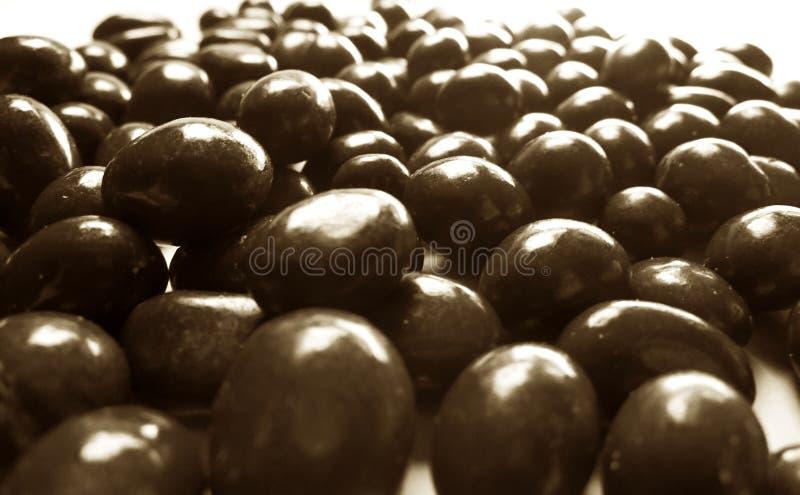 Cacahuetes de chocolate fotografia de stock