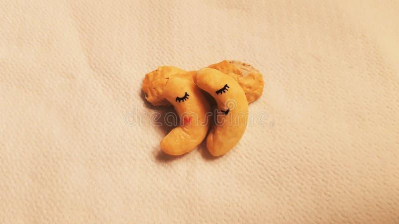 Cacahuetes soñolientos foto de archivo