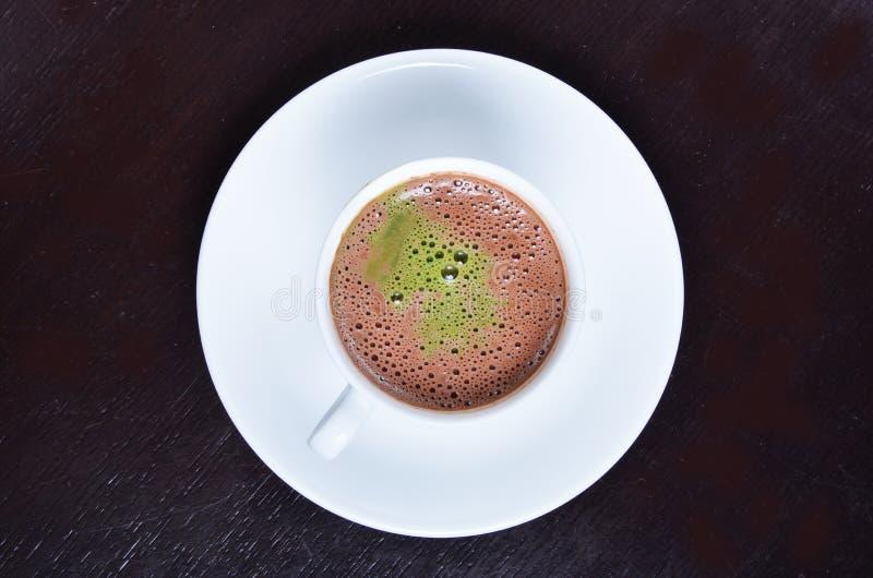 Cacao caliente de Matcha fotos de archivo libres de regalías