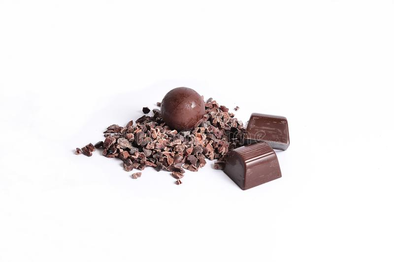 Cacao and chocolate stock images