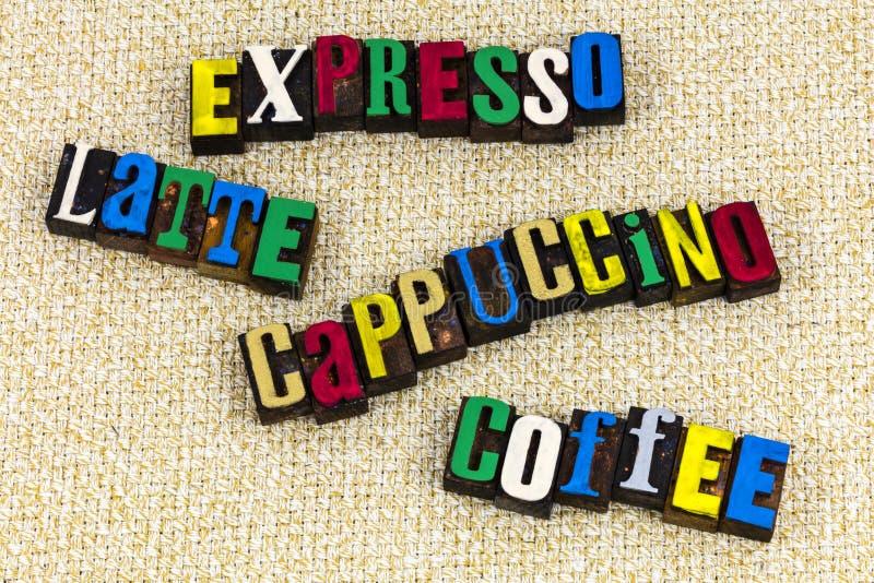 Cacao de café de cappuccino de latte d'Expresso photo stock