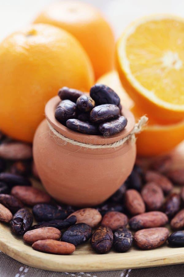 Cacao et orange photographie stock libre de droits