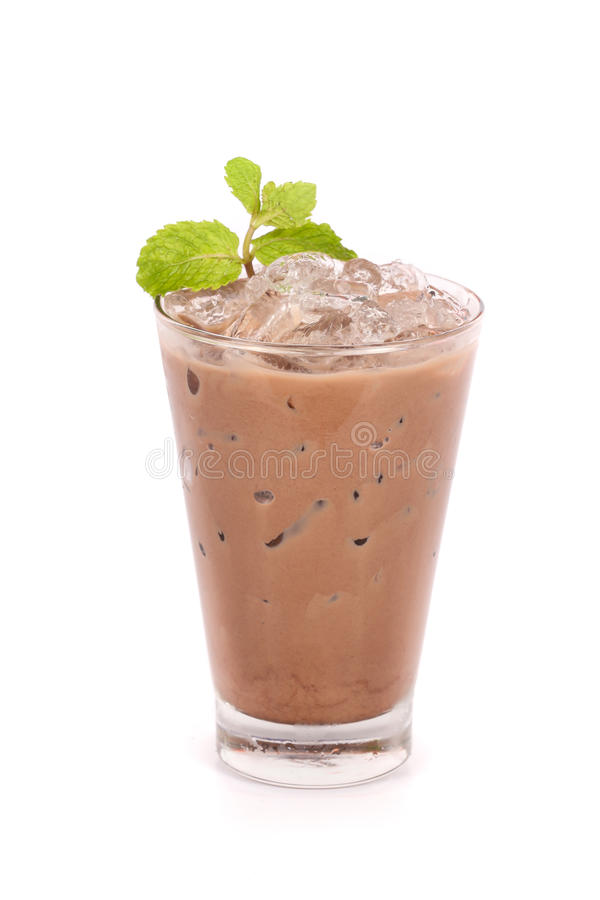 Cacao ghiacciato in un vetro fotografie stock