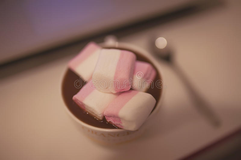 Cacao with marshmallow royalty free stock images