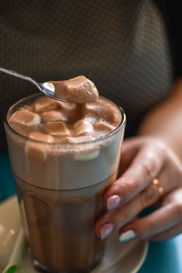 Cacao met heemst royalty-vrije stock afbeeldingen
